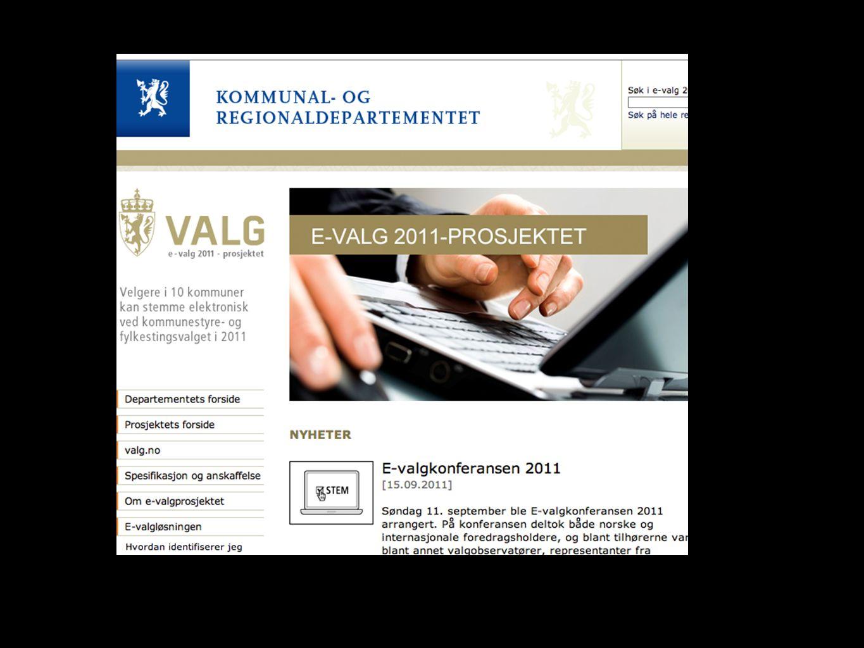 Bakgrund Försöket gjordes i 10 utvalda kommuner Modernisering nödvändig - Norge långt framme med IT Ett sätt att komma åt soffagrisarna Tendensen är ökad förtidsröstning.