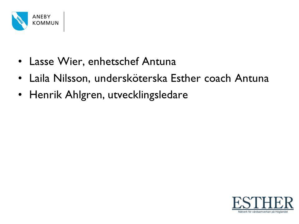 Lasse Wier, enhetschef Antuna Laila Nilsson, undersköterska Esther coach Antuna Henrik Ahlgren, utvecklingsledare