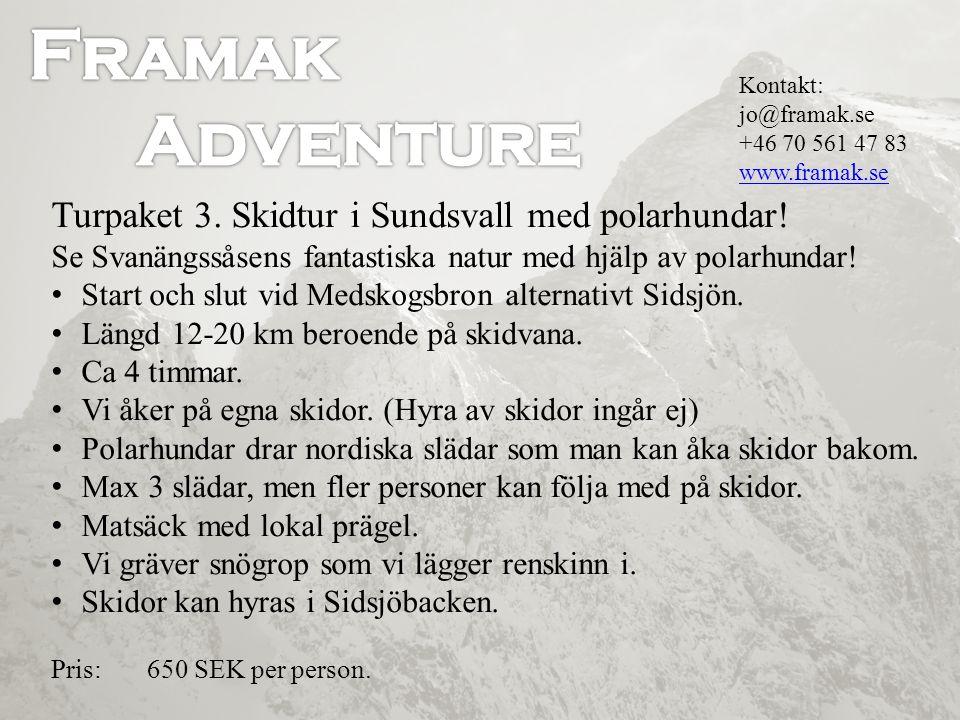 Skidtur i Sundsvall med polarhundar.Se Svanängssåsens fantastiska natur med hjälp av polarhundar.