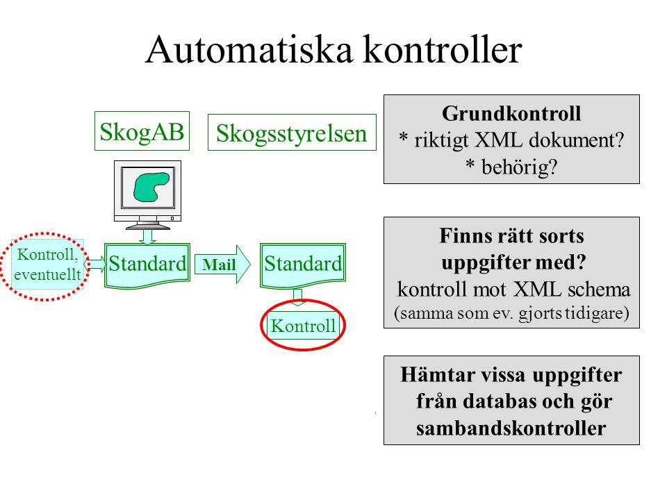 Alltid ett kvitto Standard Mail Kontroll Kvitto Mail SkogAB Skogsstyrelsen Standard För varje inkommet mail returneras ett kvitto.