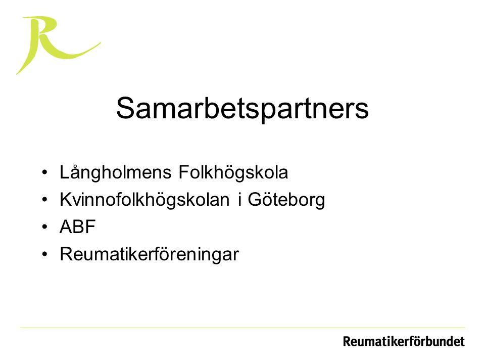 Samarbetspartners Långholmens Folkhögskola Kvinnofolkhögskolan i Göteborg ABF Reumatikerföreningar