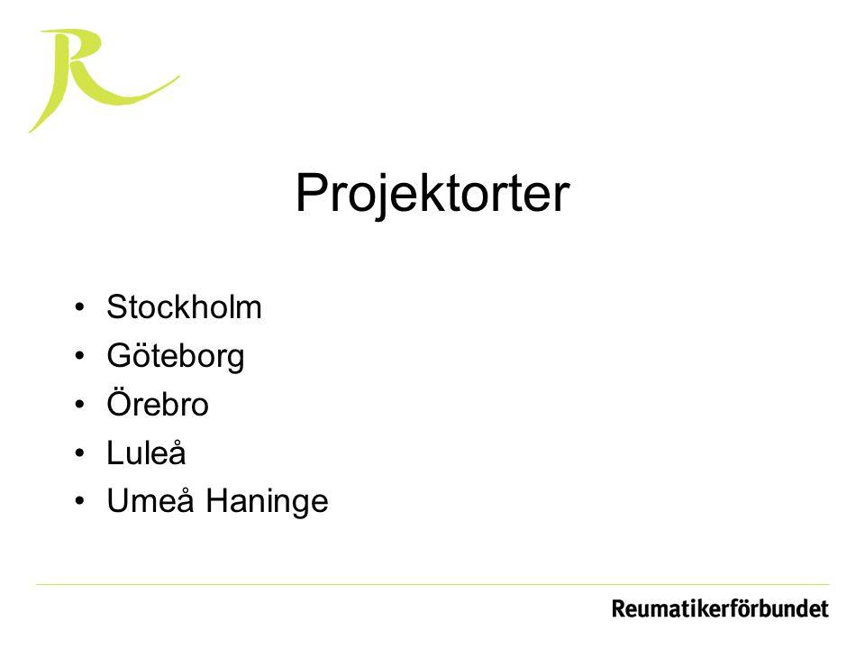 Projektorter Stockholm Göteborg Örebro Luleå Umeå Haninge