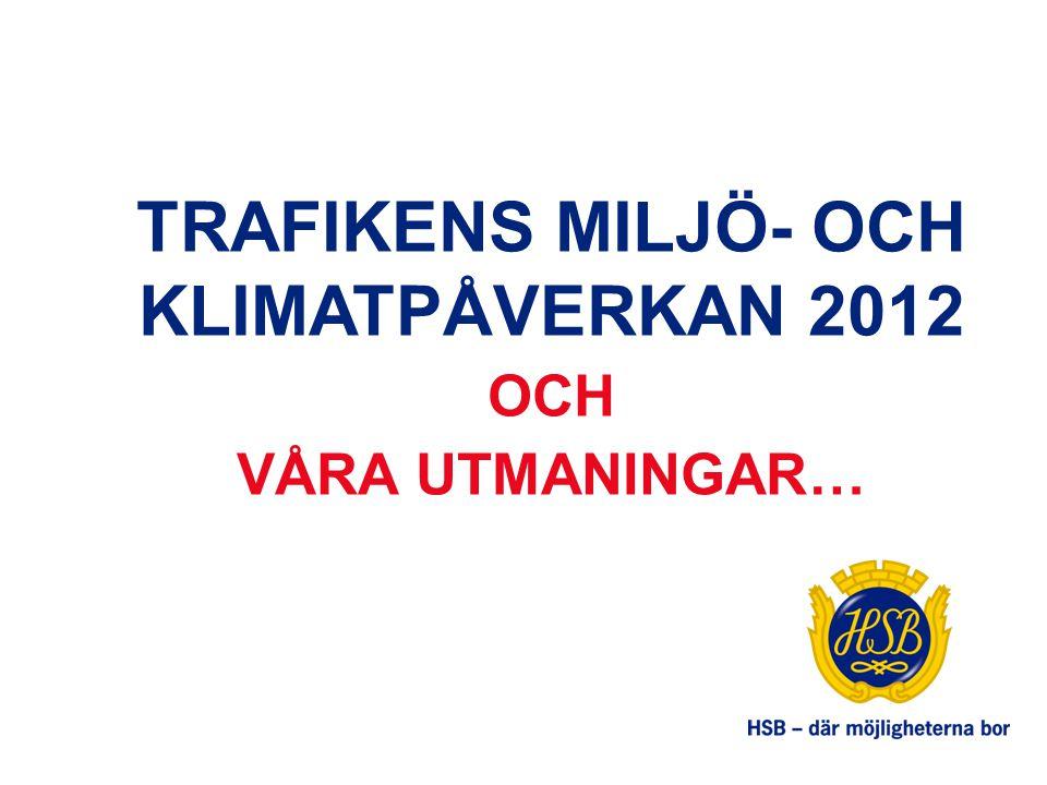 TRAFIKENS MILJÖ- OCH KLIMATPÅVERKAN 2012 OCH VÅRA UTMANINGAR…