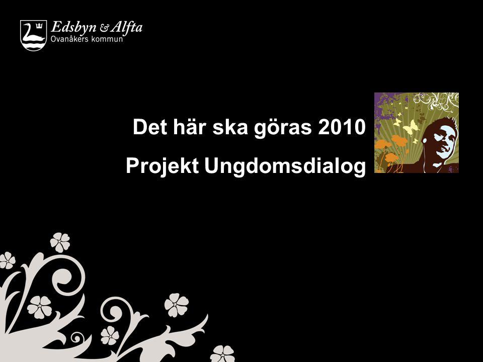 Det här ska göras 2010 Projekt Ungdomsdialog