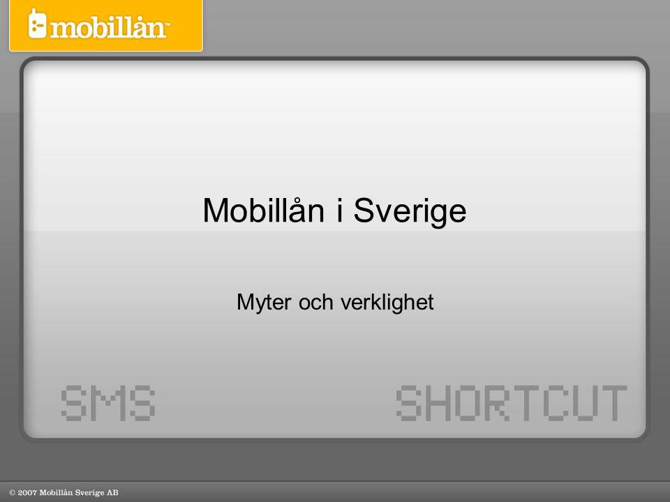 Mobillån i Sverige Myter och verklighet