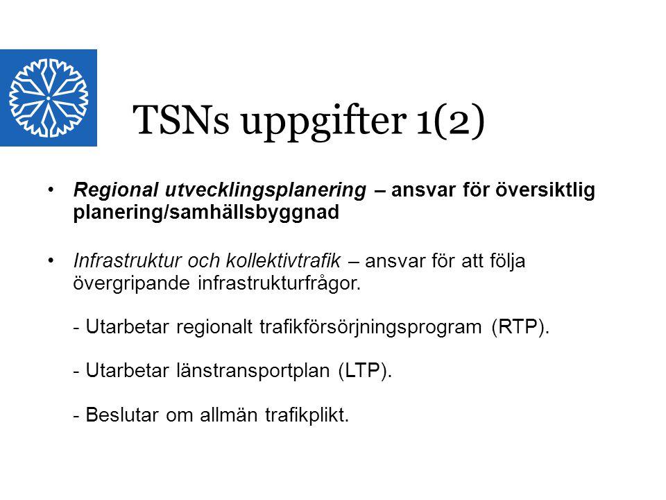 Landstinget i Östergötland Regional utvecklingsplanering – ansvar för översiktlig planering/samhällsbyggnad Infrastruktur och kollektivtrafik – ansvar för att följa övergripande infrastrukturfrågor.