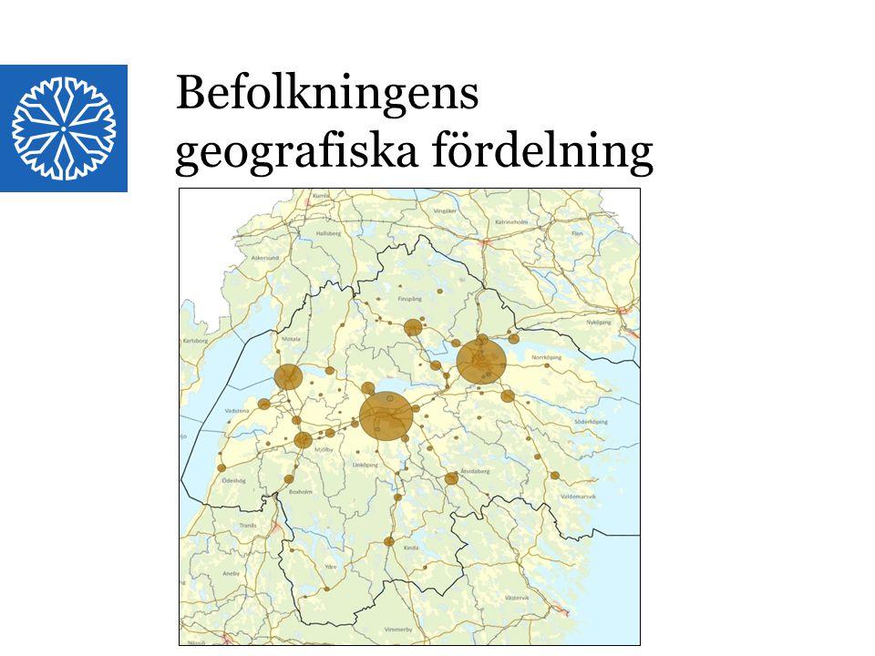 Landstinget i Östergötland Befolkningens geografiska fördelning