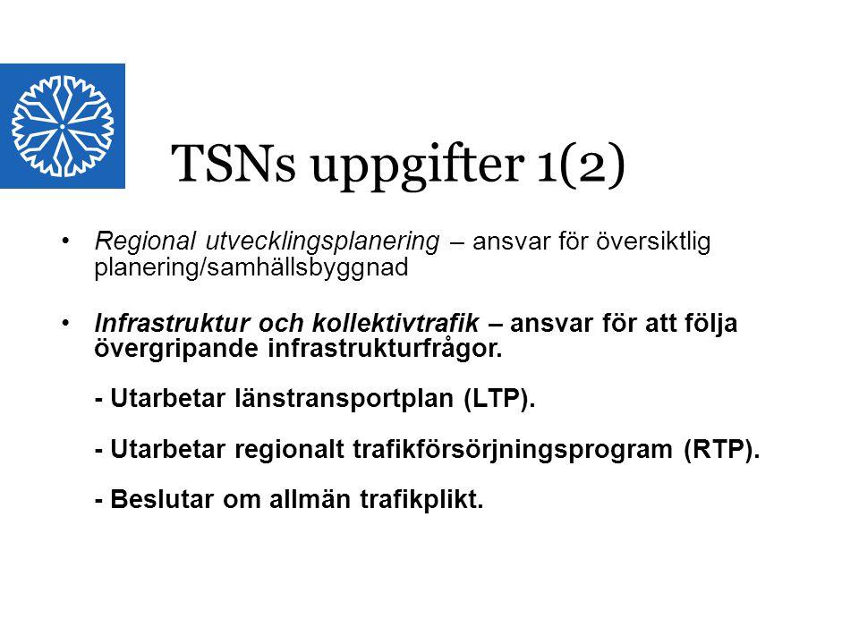 Landstinget i Östergötland Länstransportplan, LTP, Östergötland 2014-2025 1,4 mdr kr (1997:263)