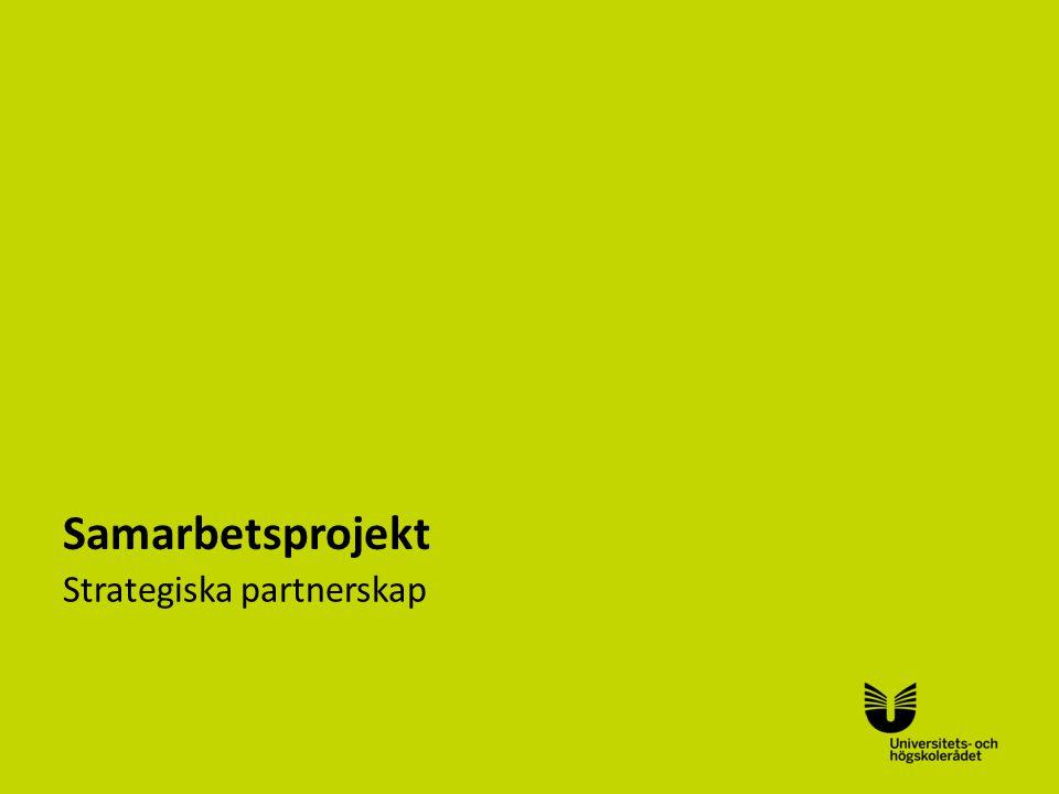 Sv Samarbetsprojekt Strategiska partnerskap