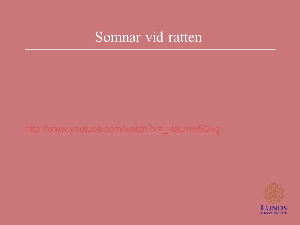 Somnar vid ratten http://www.youtube.com/watch?v=_-taLmw5Qvg