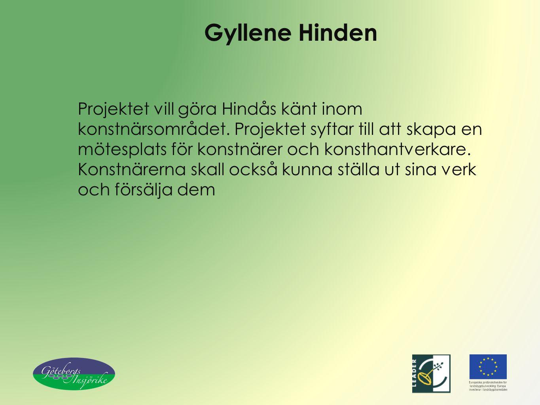 Gyllene Hinden Projektet vill göra Hindås känt inom konstnärsområdet.