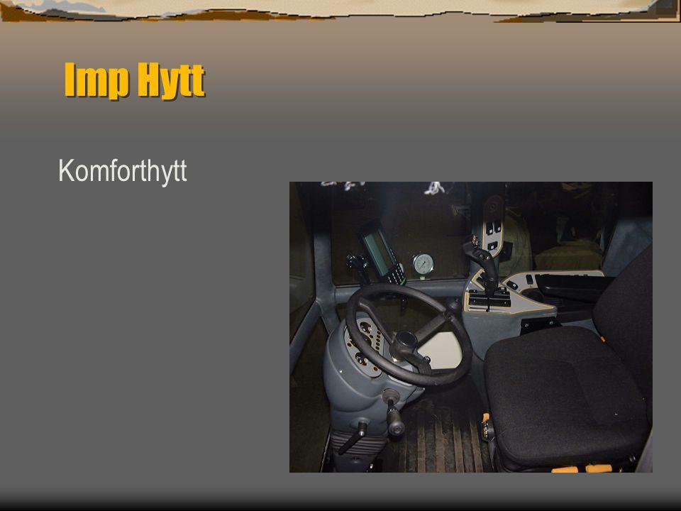 Spector Imp  Ny hytt  Ergonomisk  Komfortabel  AC  förarstol med fjädring  Plats för medpassagerare  Mycket bra utsikt