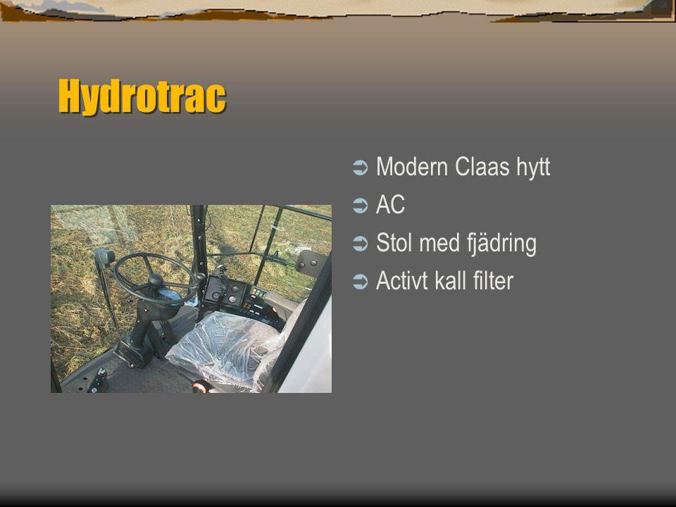 Spector Hydrotrac  Hydrotrac 100 och 120  Leverbar med Deutz 152 och 181 Hk motorer  Hydrostatisk  Fyrhjulsdrift  Fyrhjulsstyrning  Groot laadve