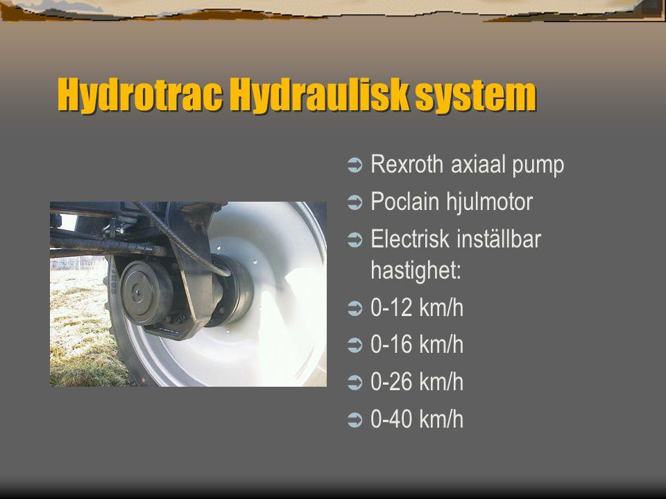 Hydrotrac  Framaxel med luft fjädring ( type 100 )  Hydropneumatisk fjädring ( type 120 )