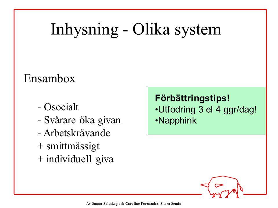 Av Sanna Soleskog och Caroline Fornander, Skara Semin Förbättringstips.