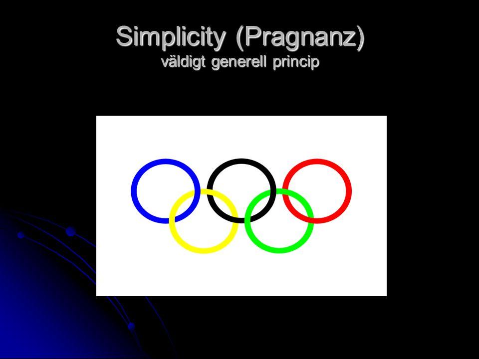 Simplicity (Pragnanz) väldigt generell princip