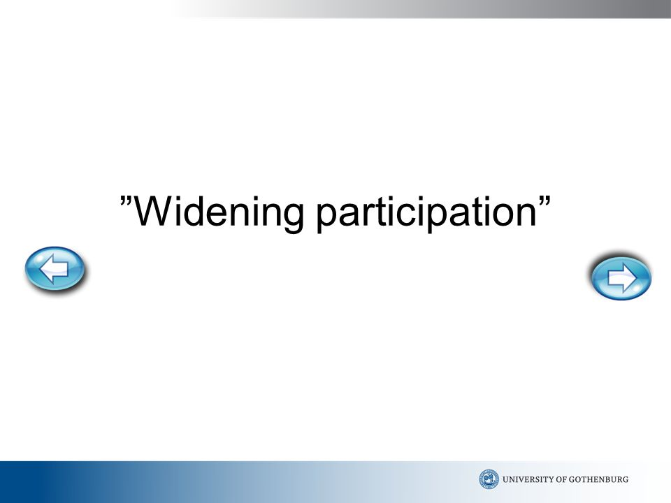 Widening participation