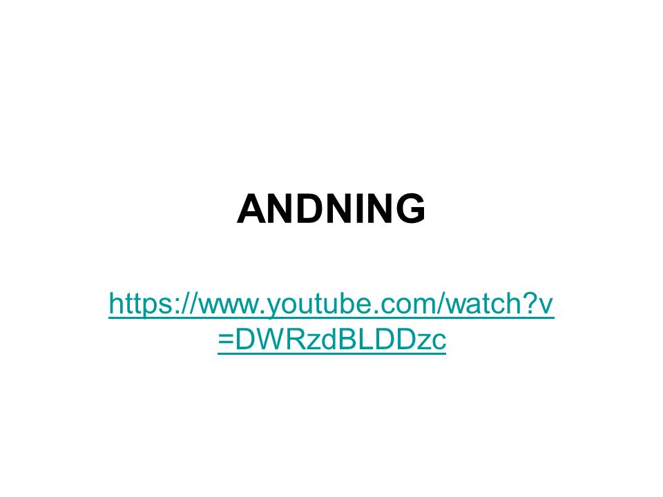 ANDNING https://www.youtube.com/watch v =DWRzdBLDDzc