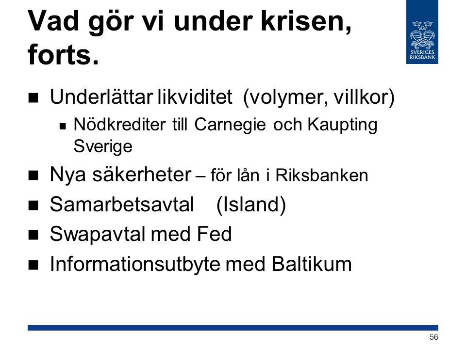 Riksbanken stottar islands