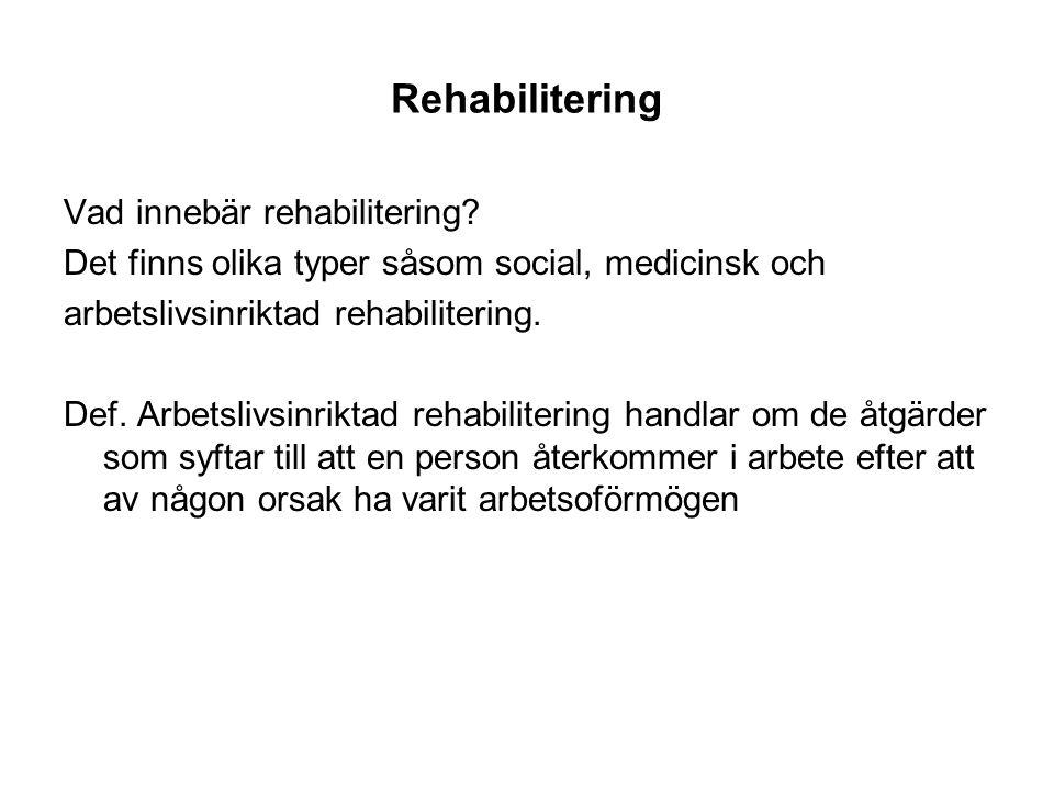 vad är rehabilitering