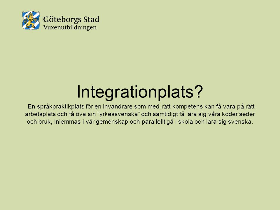 Integrationplats.