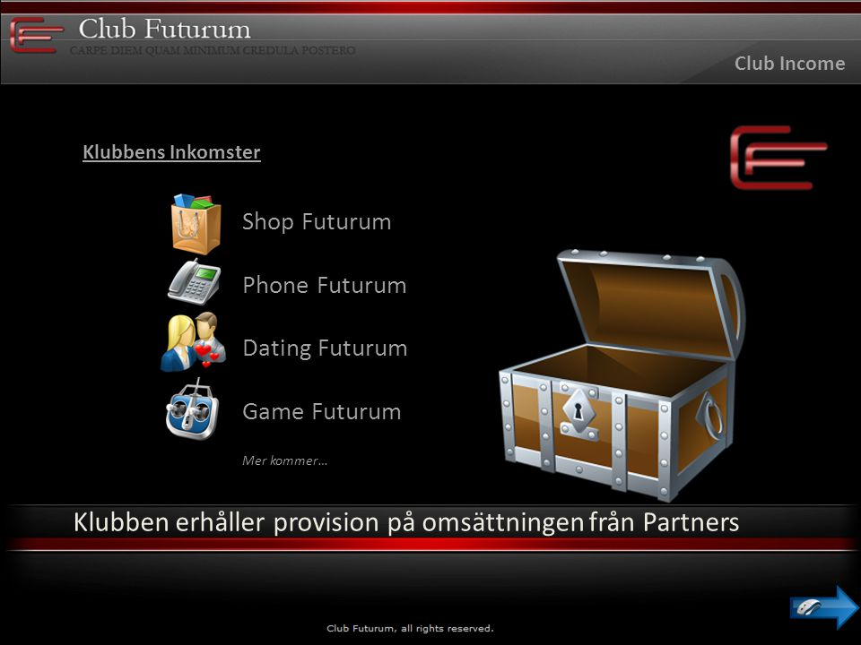 Partner Inkomst Partner Income Shop Futurum Phone Futurum Dating Futurum Games Futurum Mer kommer… Slutkunder spenderar pengar på våra partners hemsidor