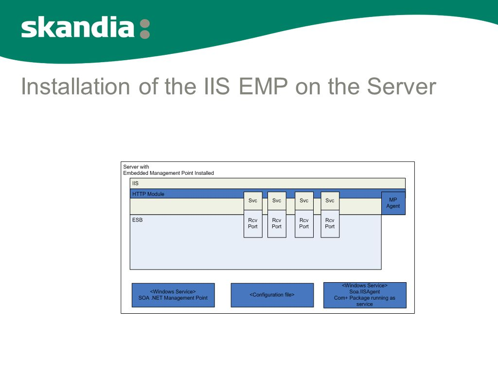 Installation of the IIS EMP on the Server