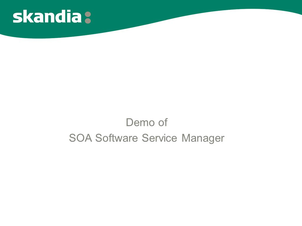 Demo of SOA Software Service Manager