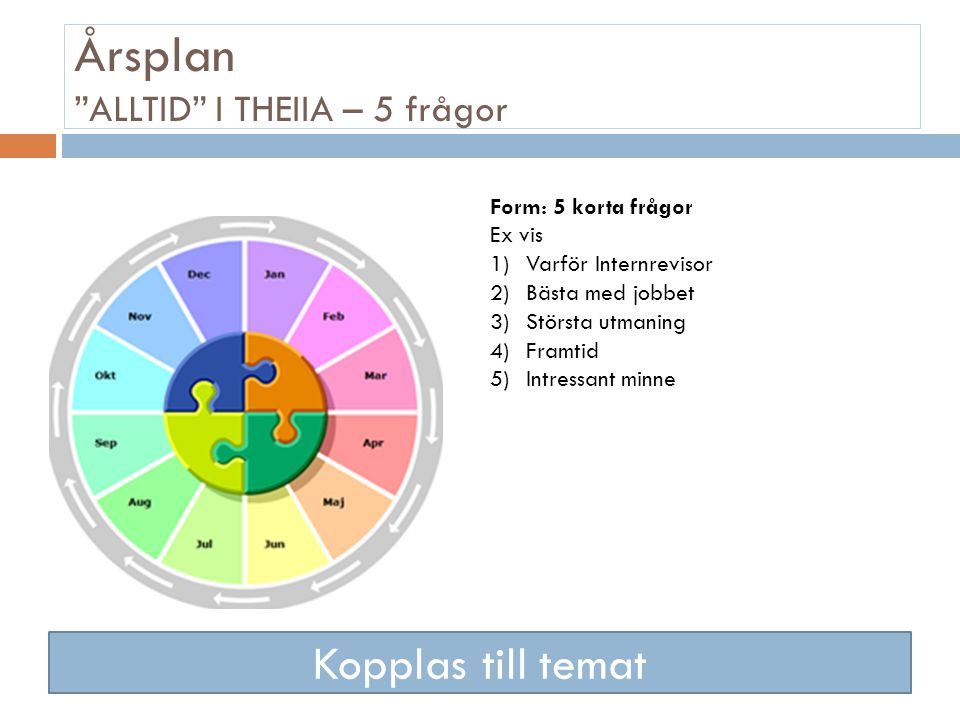 5 års plan THEIIA.SE NYHETSBREV Årsplan (ändrad 23 januari 2013  5 års plan