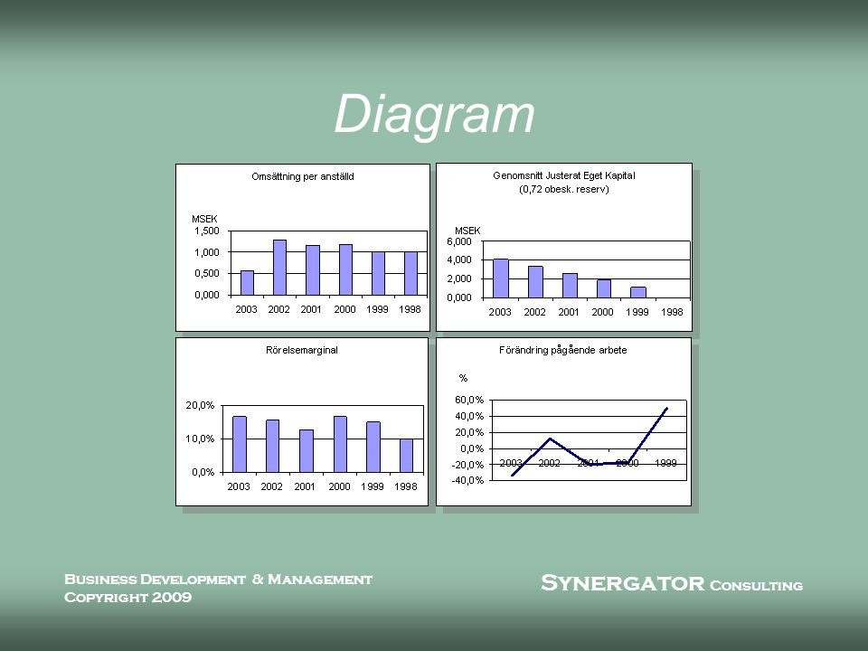 Synergator Consulting Business Development & Management Copyright 2009 Diagram