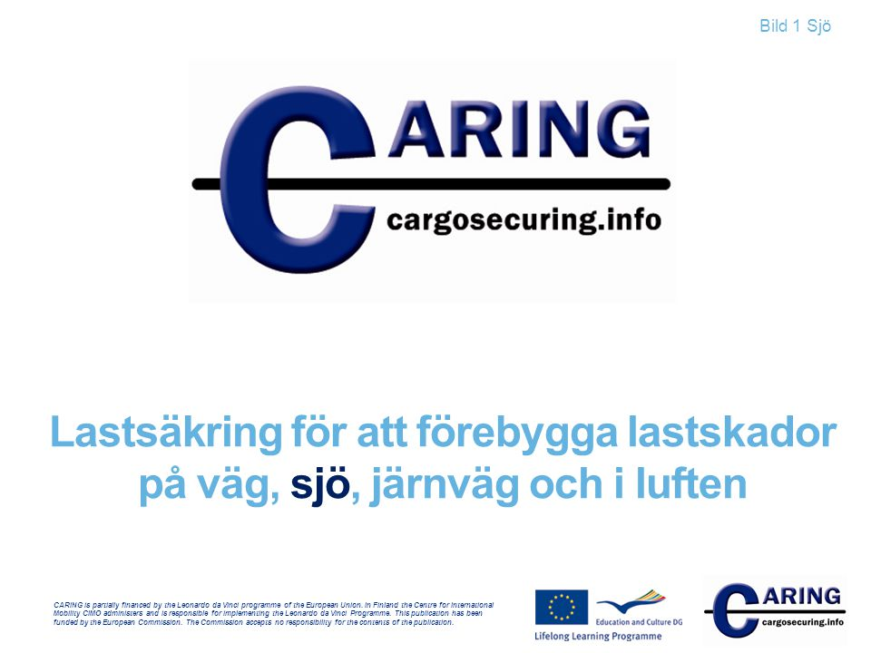 CARING is partially financed by the Leonardo da Vinci programme of the European Union.