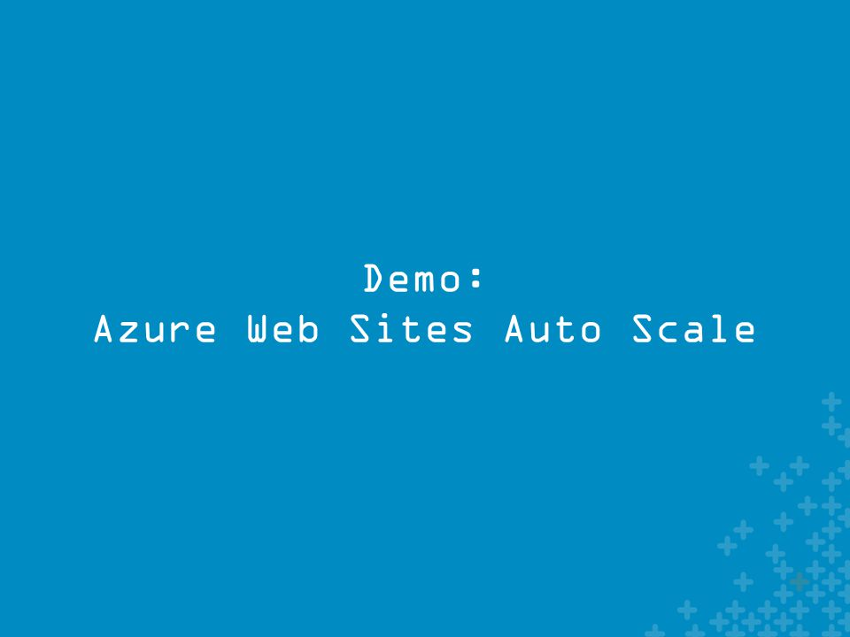 Demo: Azure Web Sites Auto Scale