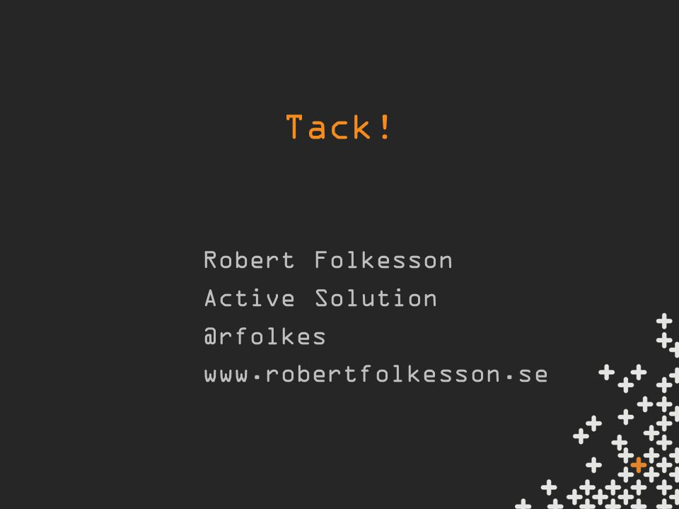 Tack! Robert Folkesson Active
