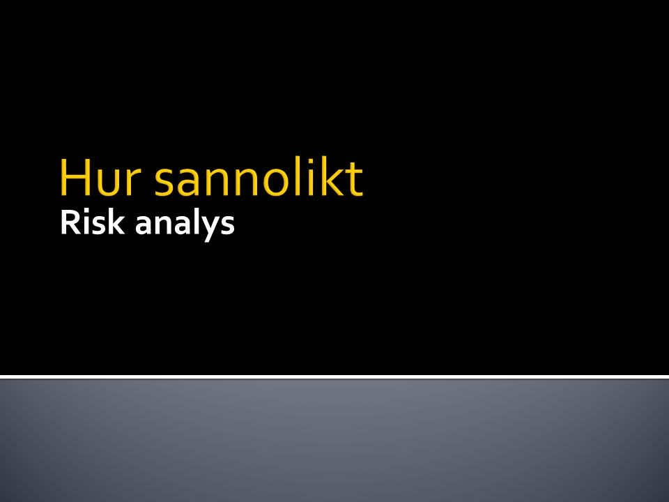 Risk analys