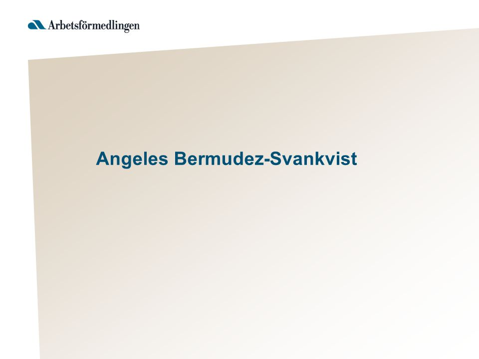 Angeles Bermudez-Svankvist