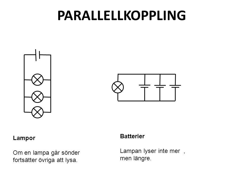 Parallellkoppling batteri