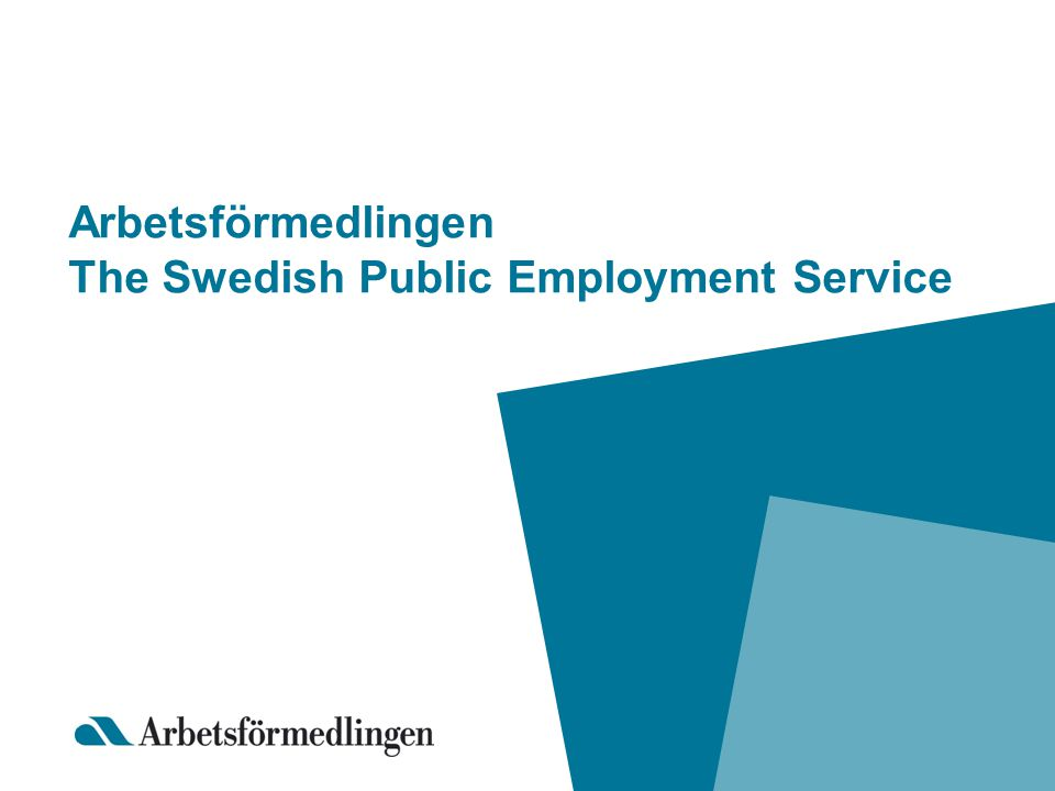 Arbetsförmedlingen The Swedish Public Employment Service