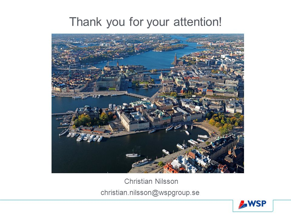 Thank you for your attention! Christian Nilsson